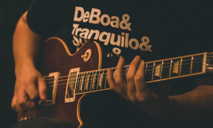 guitar riffing