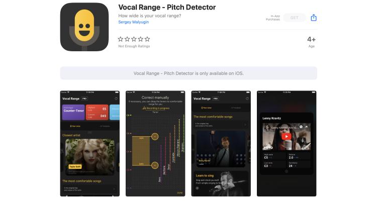 Vocal Range Vocaberry App (Android / iOS)